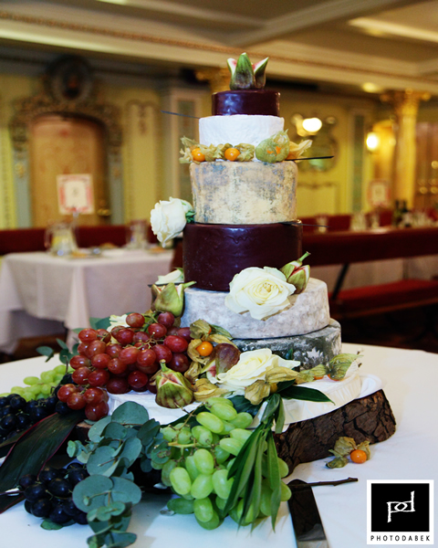 Anna & Andy - Cheese Wedding Cake - SS GB